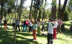 01/12/2007: Enseñando los ejercicios en Arequipa.