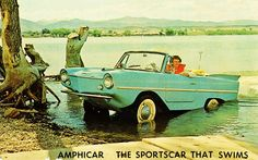 Amphicar ... just never took off, but still a part of all of us that wishes we had a car that could drive across a lake