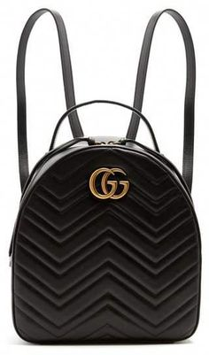 3e0e341885 Gucci - Gg Marmont Quilted Leather Backpack - Womens - Black   Designerhandbags. Taschen Designer Handbags · Designer handbags · Versace  ...