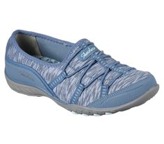 Versatile style and easy wearing comfort are precious in the SKECHERS Relaxed Fit: Breathe Easy - Golden shoe. Sporty flat knit mesh fabric and synthetic upper in a slip on bungee laced sporty casual comfort sneaker with stitching accents and Air Cooled Memory Foam insole for added comfort.