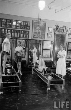 Here's a treat for all you Pilates lovers! A photo of the man himself Joseph Pilates taken in his original studio. Love it! photo credit: IC Rapoport. www.thepilatesflow.com.sg https://www.facebook.com/ThePilatesFlow