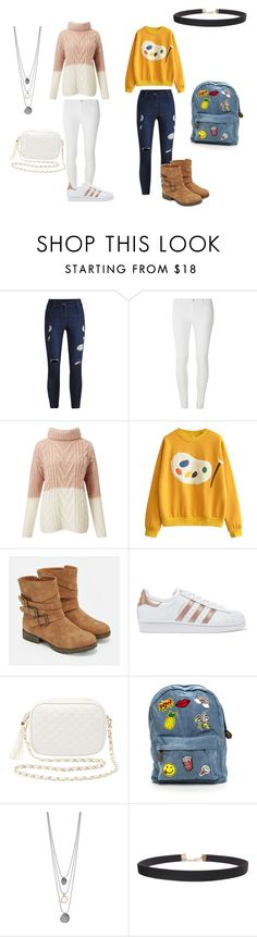 """It's an art thing."" by fashion-and-beyond on Polyvore featuring Dorothy Perkins, Miss Selfridge, JustFab, adidas Originals, Charlotte Russe and Humble Chic"