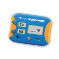 @Overstock.com - This Word Whiz Electronic Flash Card game from Learning Resources  Encourages children to practice word building as they combine beginning letters and blends with word families. Build as many 3-, 4- and 5-letter words as fast you can in 60 seconds.http://www.overstock.com/Sports-Toys/Learning-Resources-Word-Whiz-Electronic-Flash-Card-Game/6155592/product.html?CID=214117 $18.89