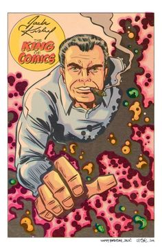 Jack Kirby tribute by Tobin Marvel Comics Superheroes, Bd Comics, Marvel Comic Books, Marvel Heroes, Comic Books Art, Captain Marvel, Comic Book Artists, Comic Book Characters, Comic Artist