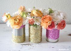 Upcycled Glitter Vase DIY