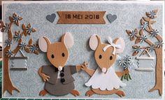 Scrapcard girls: Trouwkaartje 18 mei 2018 Aliexpress Dies Cards, Wedding Day Cards, Marianne Design Cards, Punch Art Cards, Bear Card, Collectible Cards, Embossed Cards, Cricut Cards, Animal Cards