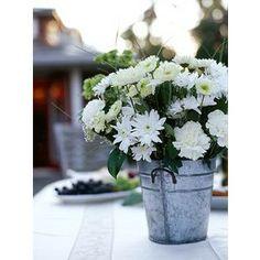 Tin Bucket Centerpieces | Wedding Centerpiece Ideas: Tin Bucket - Polyvore