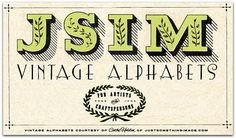 Free JSIM Vintage Alphabet Images