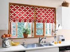 """Fabric shades are like great art: They transform a space and its inhabitants,"" says Kara Roberts, Director of Merchandising for Smith & Noble, the manufacturer of the Moroccan-style shades shown here. Flat Roman shades fold up at the top when fully raised and lie flat when lowered, creating a low profile look that works with a wide range of fabrics and prints."