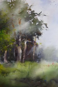 Ilya Ibryaev    - Plein Air - watercolor 53х35 cm