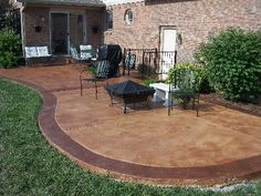 Stained Concrete Patio Pictures - Stained Concrete Patio Concrete Patio Backyard Patio Patio Concrete Stain And Sealer Patio Makeover Concrete Exchange Pin On Home Sweet Home Stained C. Concrete Patio Designs, Cement Patio, Patio Paint, Outside Living, Outdoor Living, Living Pool, Patio Pictures, Painting Concrete, Outdoor Spaces