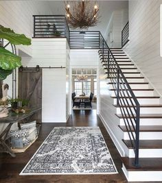 From rustic wood to modern metal, discover the top 70 best stair railing ideas. Explore stunning indoor staircase design inspiration and styles. Staircase Design, Foyer Staircase, Home Stairs, Interior Stair Railing, Iron Stair Railing, Staircase Ideas, Banisters, Staircase In Living Room, Metal Staircase Railing
