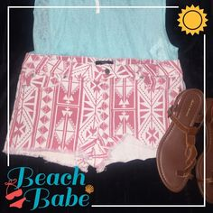 Tribal Cutoffs, perfect for summer  These tribal Forever 21 Cutoffs are perfect for summer. Soft and stretchy denim. Size 31 but could fit a 30-32 depending on how tight/loose you want them. Only worn a couple times. In excellent condition. Forever 21 Shorts Jean Shorts
