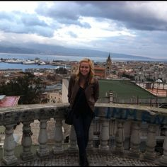 Me in downtown Messina Sicily at the panorama