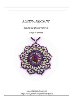 *P Alhena Pendant  Beading Pattern/Tutorial  PDF file for by micabead, $12.00