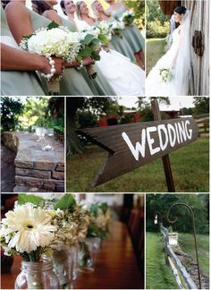rustic chic - love the steel stands to hold the candles/flowers