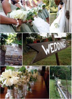 ball mason jars with flowers wedding