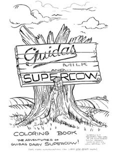 Guida's Supercow Coloring Pages (1)