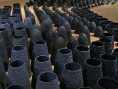 "Potter Adam Silverman and architect Nader Tehrani's ""Boolean Valley"" collaborative installations."