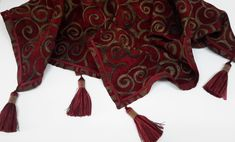 Elegant Cranberry Red Table Topper - Size 38 in. Square by CVDesigns on Etsy