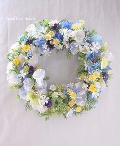 spring blue & violet:little flowers wreath|フラワー・リース|はなりえmade|ハンドメイド通販・販売のCreema