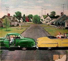 Stevan Dohanos, 1948....Backup Collision