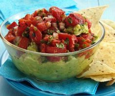 is National Guacamole day; Celebrate with this Salsa Guacamole Recipe featuring Glen Fire Roasted tomatoes! Salsa Guacamole, Guacamole Recipe, Salsa Recipe, Holy Guacamole, Nachos, Hummus, Appetizer Recipes, Appetizers, Snack Recipes