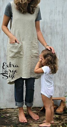 Plus Size Ragged Edge with Pockets Pinafore by RetroHome on Etsy