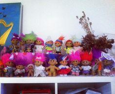 Mi actual colección de trolls #troll #russ #80stoys #vintage