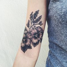 by Savannah Colleen at Ink and Dagger Tattoo in Roswell, GA #ink #tattoo #floral