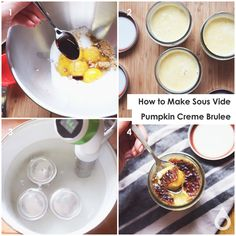How to make sous vide pumpkin creme brûlée | Nomiku