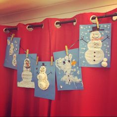 Simple snowman artwork for toddlers