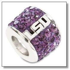 Looking for LSU Pandora charms? Show your team spirit with these: Louisiana State Tiger fans represent with these Pandora style charms made just for LSU fans. Crystal Logo, Crystal Beads, Crystals, Tiger Shop, Sterling Silver Bracelets, Beaded Bracelets, Pandora Style Charms, Crystal Shapes, Charm Rings