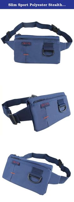 Slim Sport Polyester Stealth Small Running Travel Waist Bag With D Clip Blue. This product has four zippered pockets with adjustable strap to fit securely and comfortably around your waist. It's good enough to carry your phone,cash,credit cards and keys.It is quite small, light and bulky.