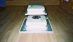 2 Tier Silver Wedding Anniversary Cake