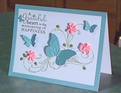 Handmade Thank You Card Stampin' Up Pursuit of by WhimsyArtCards