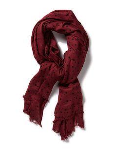 Friis & Company Dia Scarf bordeaux burgundy maroon - huivi viininpunainen