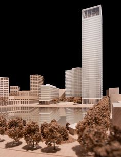 interview with architect david chipperfield (model of canada water project, london, UK, 2013):