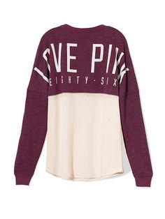 I wish these were my school colors :( | VS Pink Varsity Crew