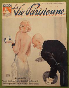 Georges Léonnec (1881 – 1940). La Vie Parisienne, 21 Octobre 1933. [Pinned 25-v-2016]