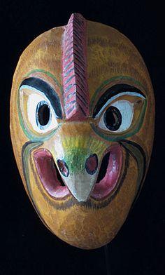 Ecuadorian Bird mask, folk art from the Quechua Indians of Ecuador Strange, more tribal Masks Art, Clay Masks, Bird Masks, Atelier D Art, 3d Studio, Tribal Art, Mythical Creatures, Art Forms, Ecuador