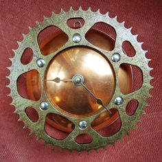 Clock made from recycled bike parts