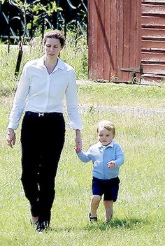 June 12, 2015 - Prince George with his nanny saying goodbye to uncle Harry.