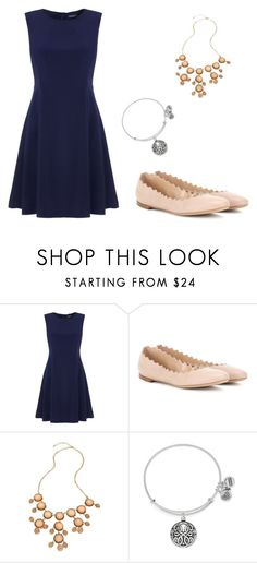 """""""Winter formal 2k15"""" by kate78r ❤ liked on Polyvore featuring Tommy Hilfiger, Chloé, Blu Bijoux and Alex and Ani"""