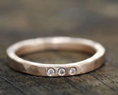 Wedding Band 14k gold diamond wedding band by monkeysalwayslook, $775.00