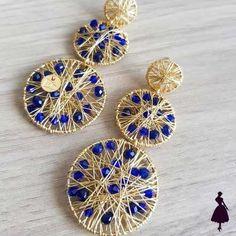Wire Wrapped Earrings, Wire Earrings, Unique Earrings, Clip On Earrings, Drop Earrings, Cute Jewelry, Diy Jewelry, Jewelry Accessories, Jewelry Making
