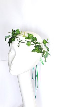 Poison ivy halo crown whimsical woodland green fairy crown mother nature fancy dress tree people costume