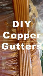 We've seen those fancy copper gutters on those big hoopty houses. Diy Exterior, House Paint Exterior, Exterior Paint Colors, Exterior House Colors, Diy Gutters, Copper Gutters, Copper Paint Colors, Painting Gutters, Copper House