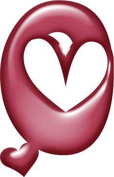 Alfabeto muy grande con corazones. | Oh my Alfabetos!