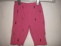 Juicy Couture Baby Size 3 Months Pink Mauve Embroidered Elastic Girls Pants #JuicyCouture #Pants #Everyday